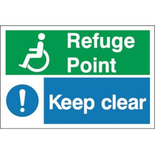 Disabled - Refuge Point - Keep clear