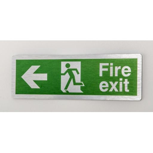 Fire exit - Running man - Left arrow (Prestige)