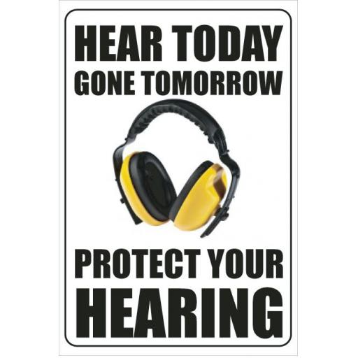 HEAR TODAY GONE TOMORROW PROTECT YOUR HEARING poster
