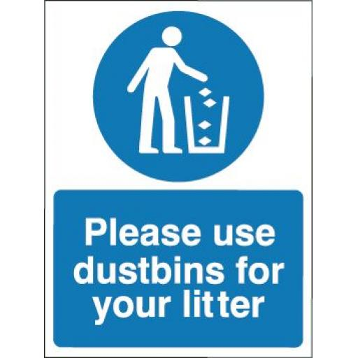 Please use dustbins for your litter