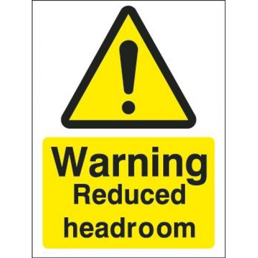 Warning Reduced headroom