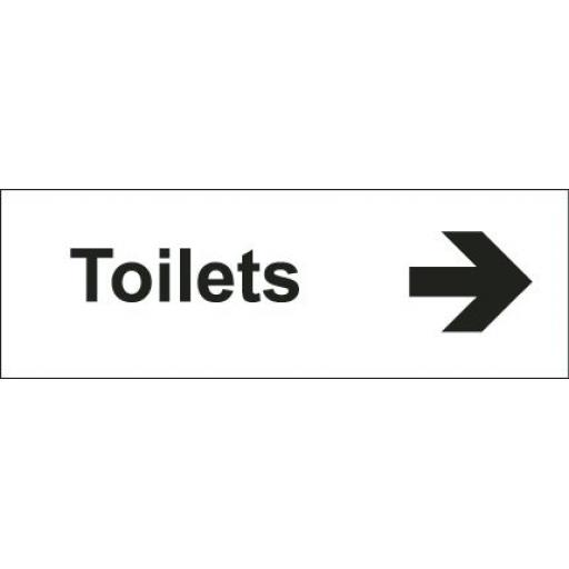 Toilets - Arrow right (Double sided)