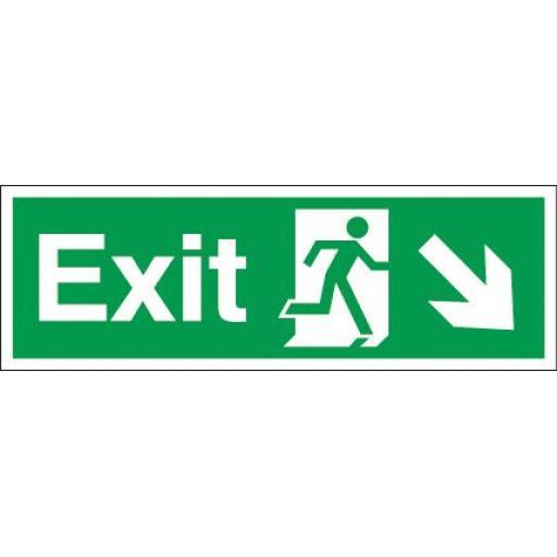 Exit - Running man - Down right arrow