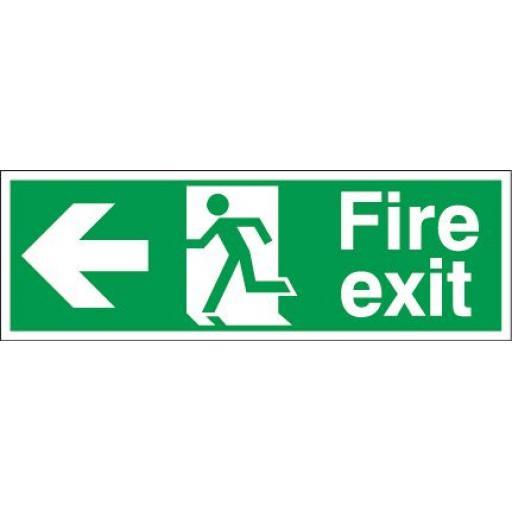 Fire exit - Running man - Left arrow