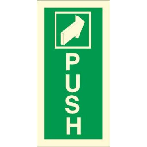 Push - Arrow (Photoluminescent)
