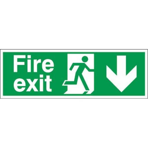 Fire exit - Running man - Down arrow
