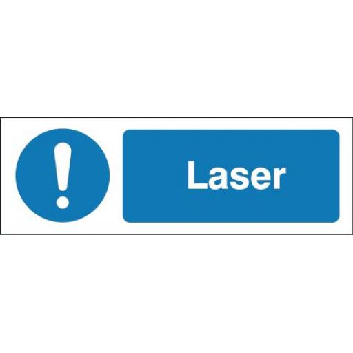 Laser equipment label