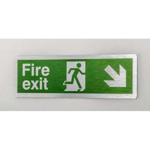 Fire exit - Running man - Down right arrow (Prestige)