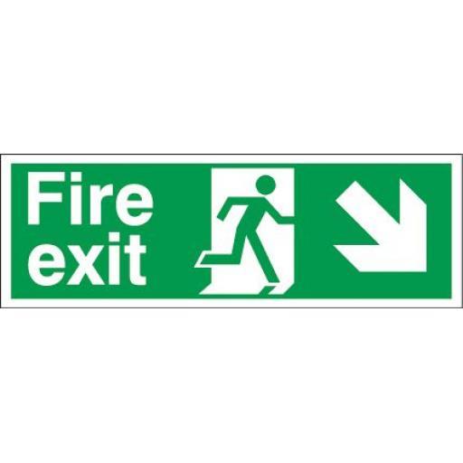 Fire exit - Running man - Down right arrow