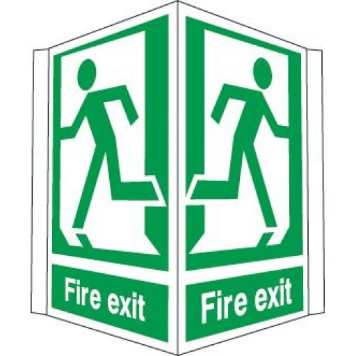 Fire exit - Running man left and right (Projecting sign)