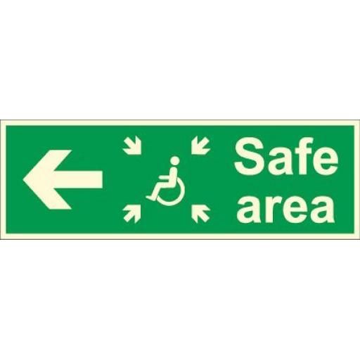 Safe area - Disabled logo - Arrow left (Photoluminescent)