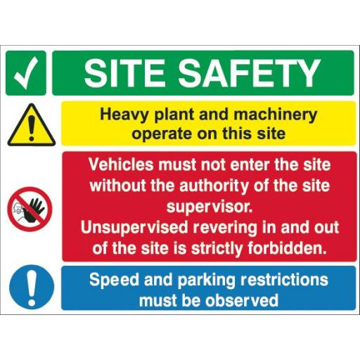 Site Safety (Heavy plant and machinery)