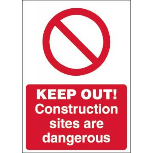 KEEP OUT! Construction sites are dangerous