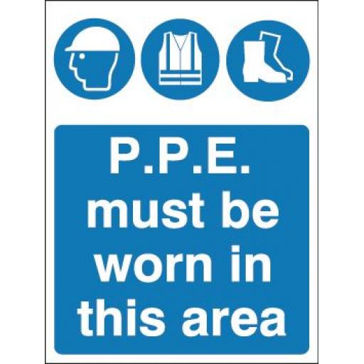P.P.E. must be worn in this area