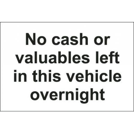 No cash or valuables left in this vehicle overnight