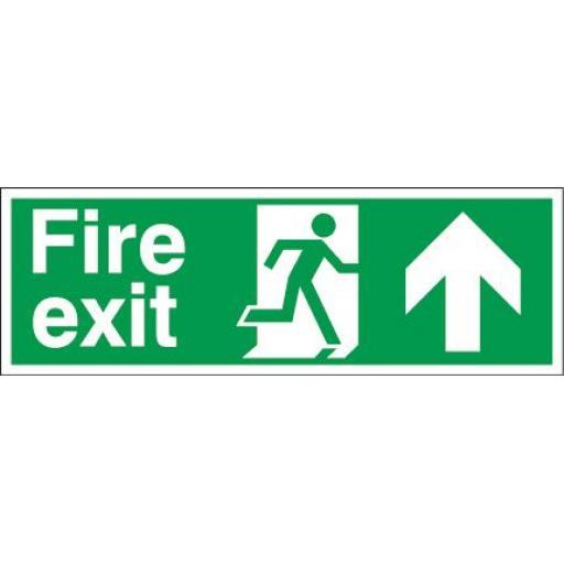 Fire exit - Running man - Up arrow