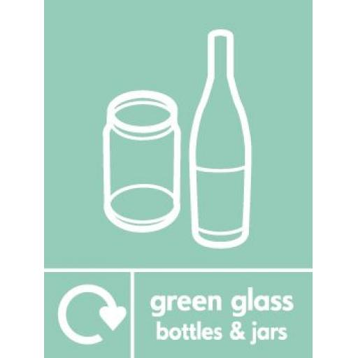 Green Glass Bottles & Jars