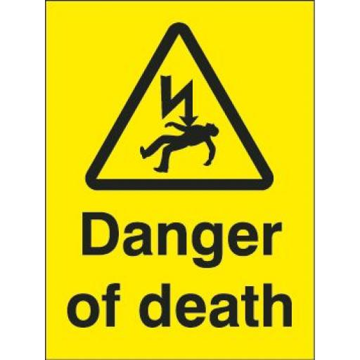 Danger of death (yellow background)