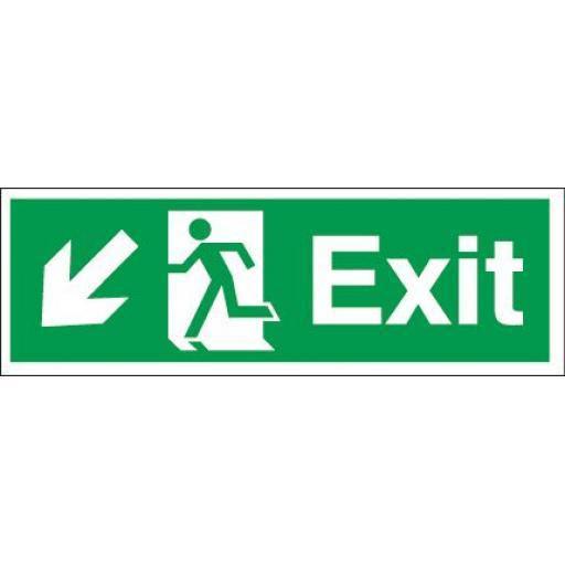 Exit - Running man - Down left arrow