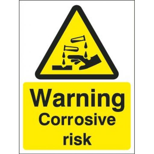 Warning Corrosive risk