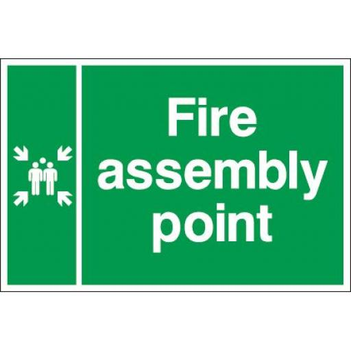 Fire assembly point (Double sided)