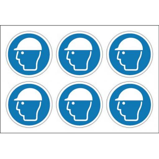 Safety helmet labels x 24