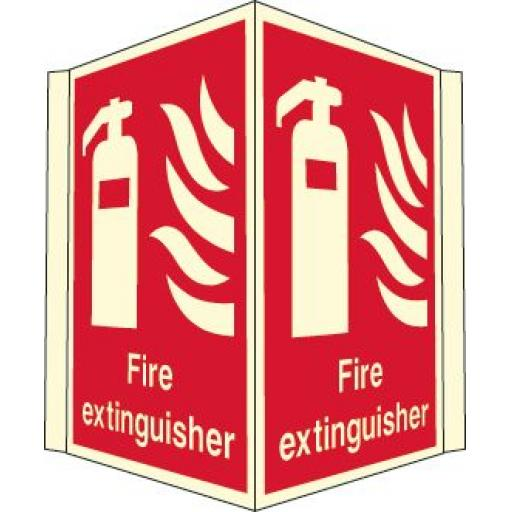 Fire extinguisher (Projecting sign Photoluminescent)