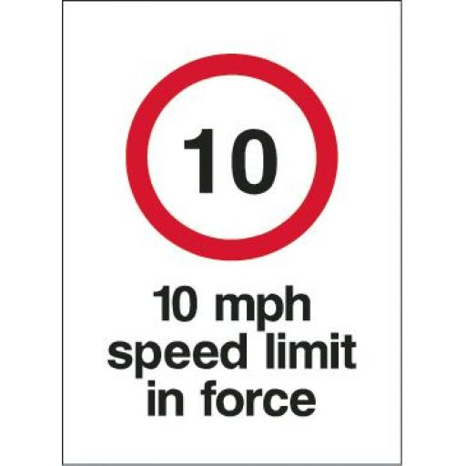 10 mph speed limit in force