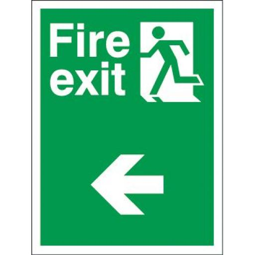 Fire exit - Man running - Arrow left