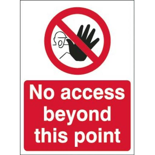 No access beyond this point