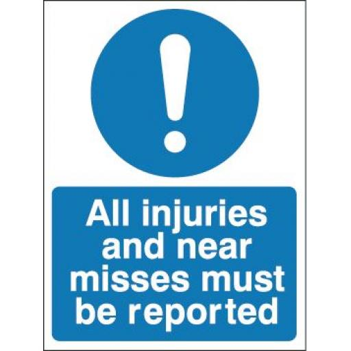 All injuries and near misses must be reported