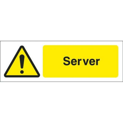 Server equipment label