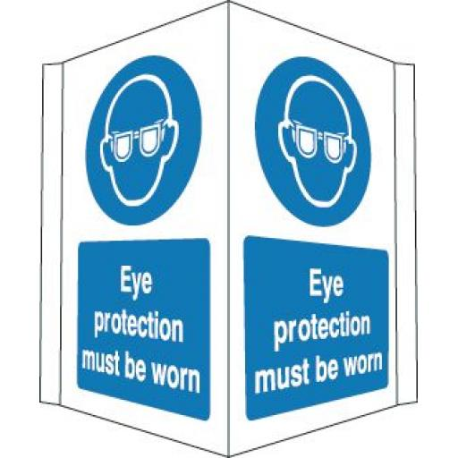 Eye protection must be worn (Projecting sign)
