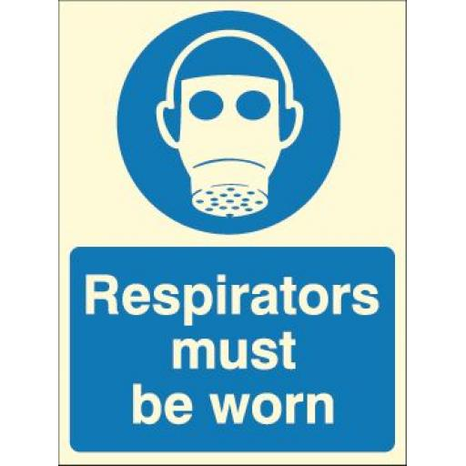 Respirators must be worn (Photoluminescent)