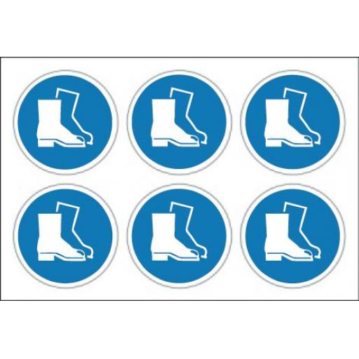Protective footwear labels x 24
