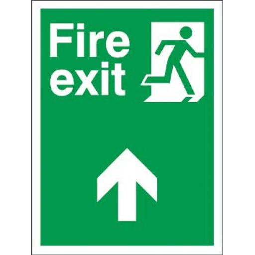 Fire exit - Man running - Arrow up