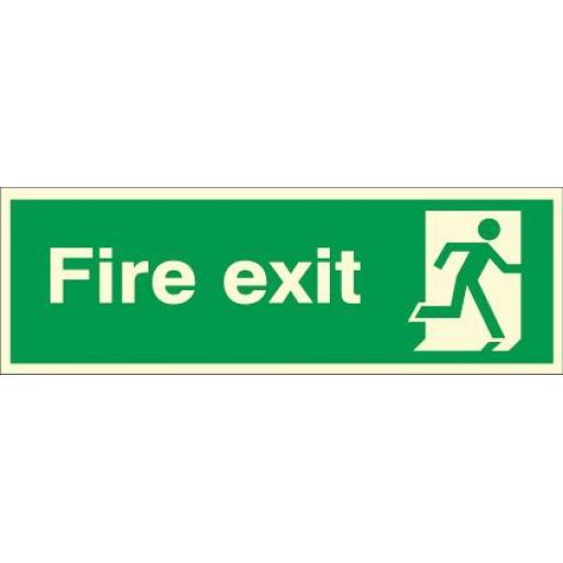 Fire exit - Running man Right (Photoluminescent)