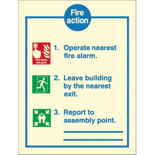 Fire Action - Operate nearest alarm (Photoluminescent)