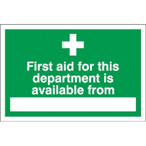 First aid for this department is available from