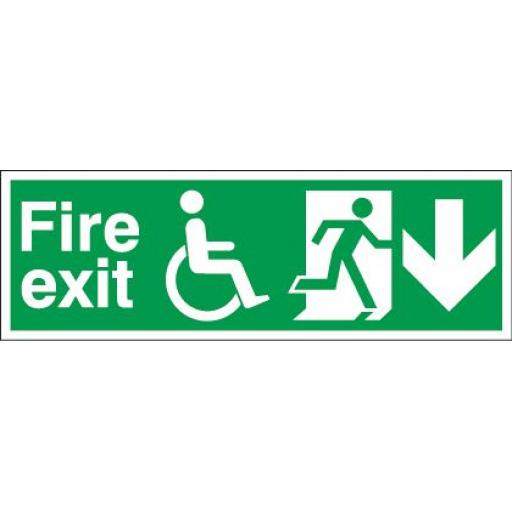 Fire exit - Disabled - Running man - Down arrow