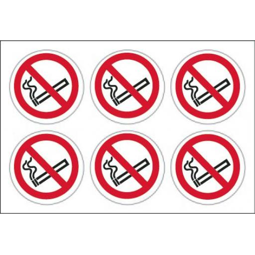No smoking labels x 24