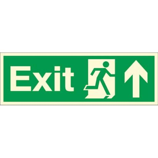 Exit - Running man - Up arrow (Photoluminescent)