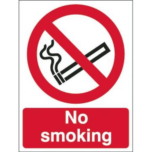 No smoking (Reverse printed window graphic)