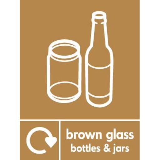Brown Glass Bottles & Jars
