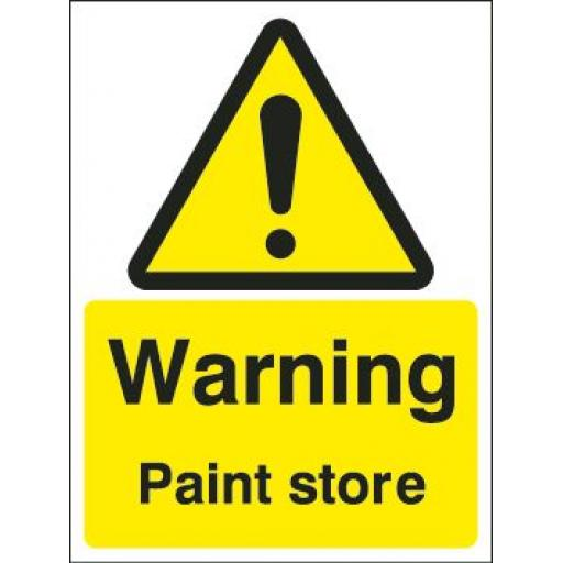 Warning Paint store