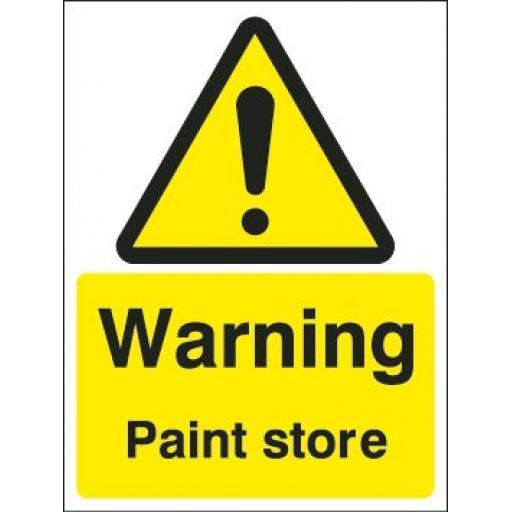 Warning Paint store