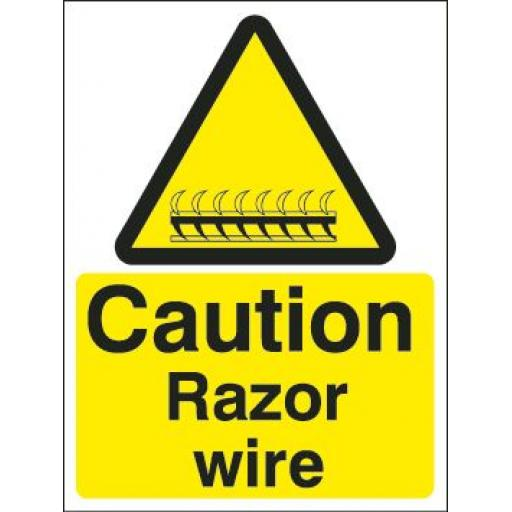 Caution Razor wire