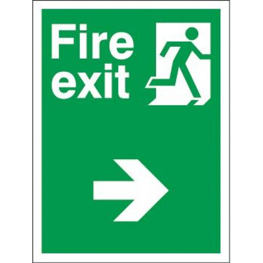 Fire exit - Man running - Arrow right