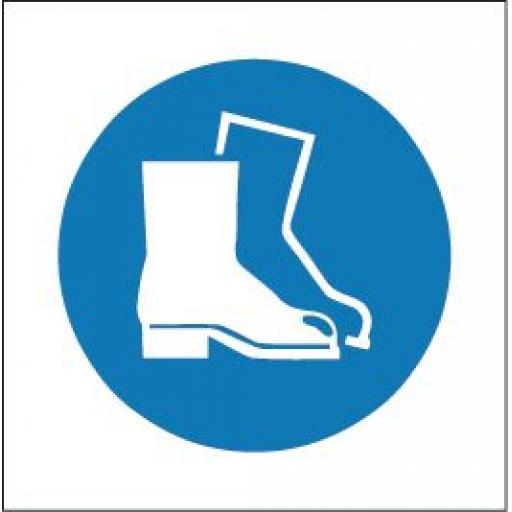 Protective footwear logo
