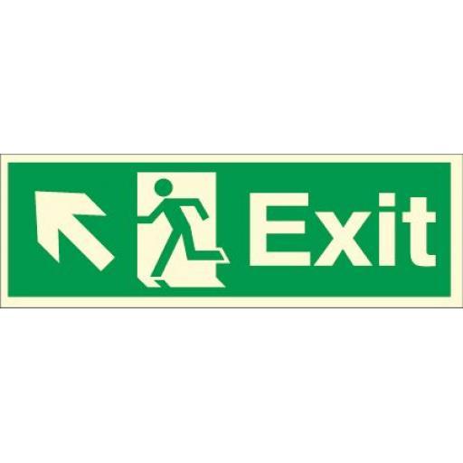 Exit - Running man - Left up arrow (Photoluminescent)
